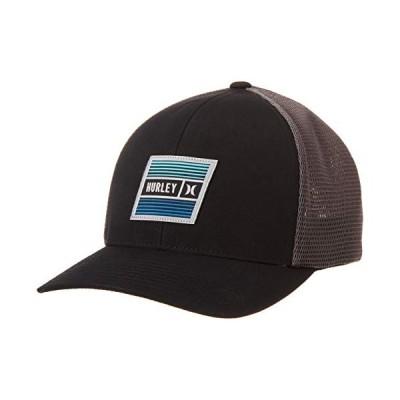 Hurley メンズ イーストケープ ストレッチ トラッカー 野球帽 US サイズ: Large-X-Large カラー: ブラック