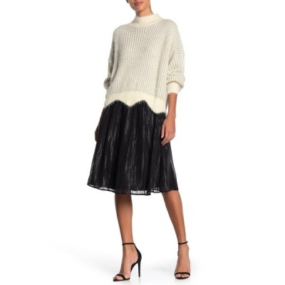 フレンチ レディース スカート ボトムス Holiday Sequin Skirt BLACK