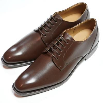 日本製グッドイヤーウエルト紳士靴 ショーンハイト 外羽根プレーントウ(SH416-4)ラバー底 ブラウン