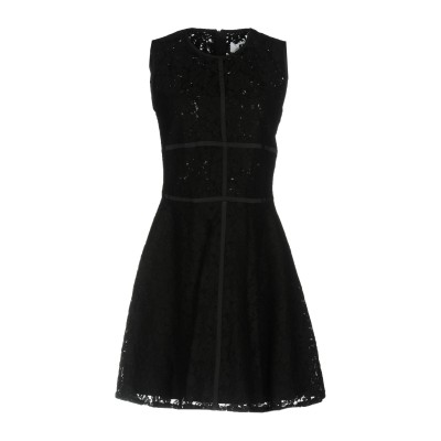 エムエスジーエム MSGM ミニワンピース&ドレス ブラック 44 57% コットン 28% ナイロン 15% レーヨン ミニワンピース&ドレス
