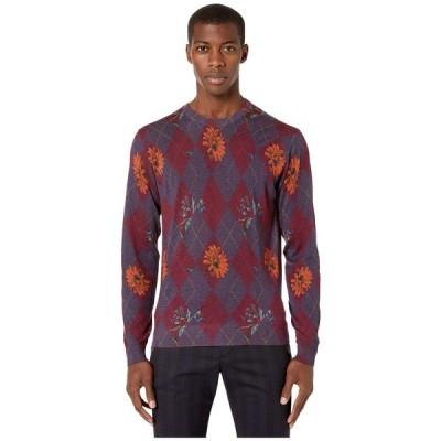 エトロ Etro メンズ ニット・セーター トップス Printed Crew Neck Sweater Red