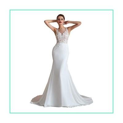 Heartgown Women's 2019 Mermaid Long Lace Applique Sequins Prom Wedding Dresses並行輸入品