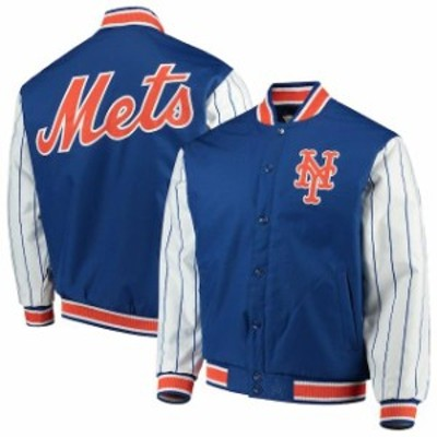 JH Design ジェイエイチ デザイン スポーツ用品  JH Design New York Mets Royal Quilted Knit Jersey Lined Jacket
