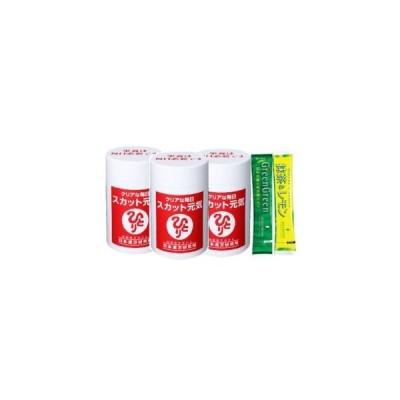 銀座まるかん スカット元気 約90粒 3個セット ハリウッド化粧品 グリーングリーン(国産有機栽培大麦若葉)&抹茶レモン試飲用サンプル付き
