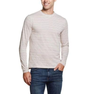 ウェザープルーフ メンズ シャツ トップス Men's Jacquard Stripe Long Sleeve Crew Neck Shirt