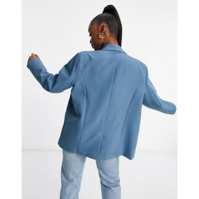 パブリックデザイア レディース ジャケット&ブルゾン アウター Public Desire oversized blazer set in gray blue Gray blue