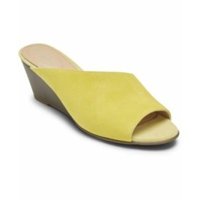 ロックポート レディース サンダル シューズ Women's Total Motion Taylor Asym Slide Lemon Yellow