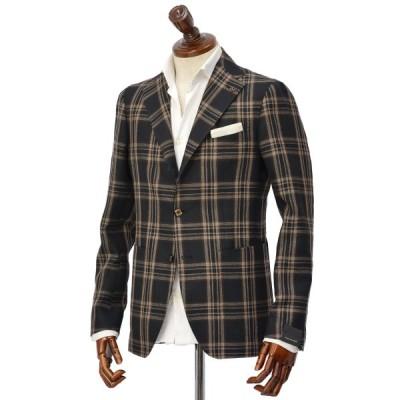 TAGLIATORE【タリアトーレ】シングルジャケット 1SMC23K 12QEG300 N3421 MONTECARLO モンテカルロ リネン ウール ネイビー×ベージュ