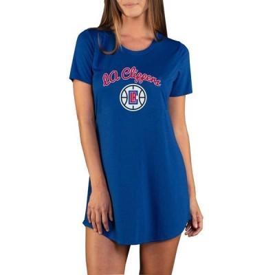 コンセプツ スポーツ レディース Tシャツ トップス Concepts Sport Women's Los Angeles Clippers Marathon Blue Night T-Shirt