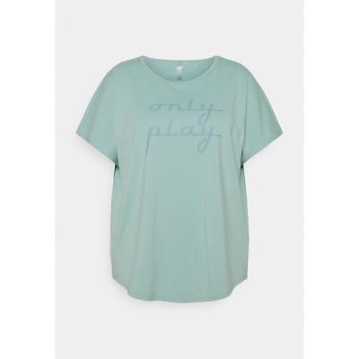 オンリープレイ Tシャツ レディース トップス ONPFUDIE LOOSE TRAIN TEE  - Basic T-shirt - gray mist/darker gray mist