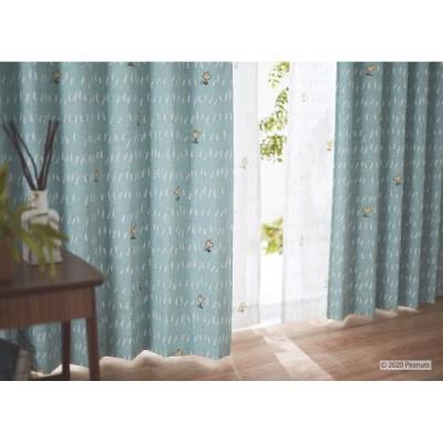 ピーナッツ スヌーピー 遮光カーテン(1枚)100×135 Chat way チャットウェイ(ブルー)P1010ウォッシャブル 形状記憶加工 国産 日本製
