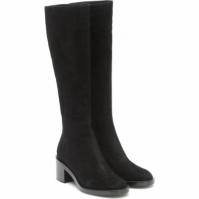 ジャンヴィト ロッシ Gianvito Rossi レディース ブーツ シューズ・靴 Suede knee-high boots Black