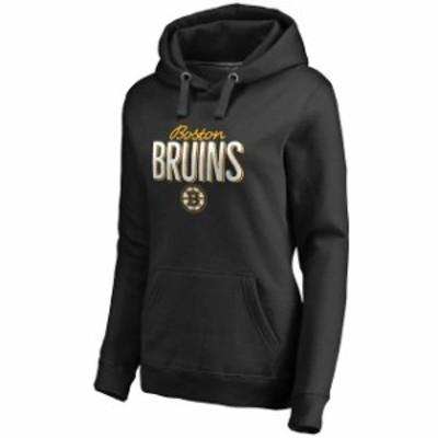 Fanatics Branded ファナティクス ブランド スポーツ用品  Boston Bruins Womens Black Nostalgia Pullover Hoodie
