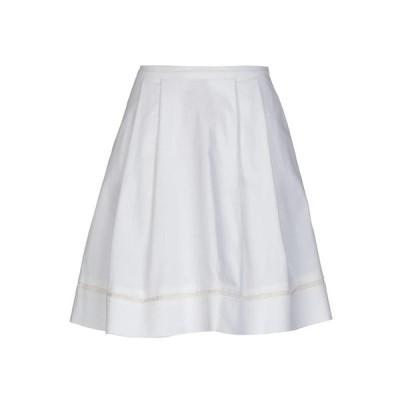 TWINSET ひざ丈スカート  レディースファッション  ボトムス  スカート  ロング、マキシ丈スカート ホワイト