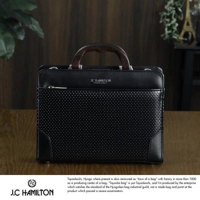 J.C HAMILTON メンズ ビジネスバッグ 木手 ミニ ダレスバッグ ブラック 日本製 A5 mens business bag