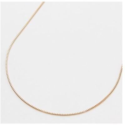 18金 ネックレス ピンクゴールド フリーサイズチェーン ベネチアン 50cm 1.9g スライドチェーン