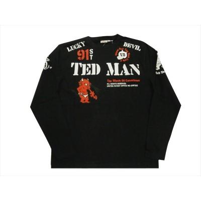 """テッドマン TEDMAN/エフ商会 長袖Tシャツ TDLS-338 """"スタンダード テッドマン"""" アメカジ・ロングTシャツ ブラック"""