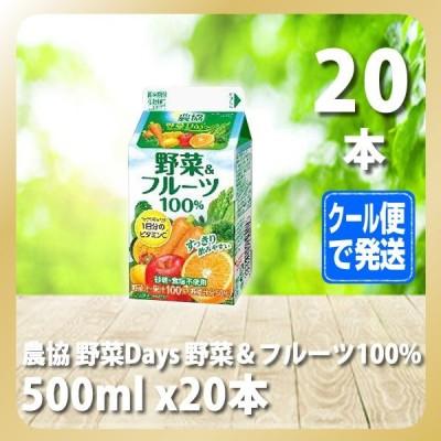 農協 野菜Days 野菜&フルーツ100% 500ml x20本(雪メグ)[T8]
