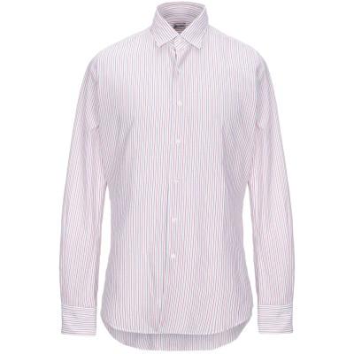 グランシャツ GLANSHIRT シャツ レッド 40 コットン 100% シャツ