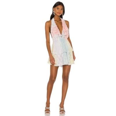 ラブシャックファンシー LoveShackFancy レディース ワンピース ワンピース・ドレス X REVOLVE Carlisle Dress Multi Tie Dye