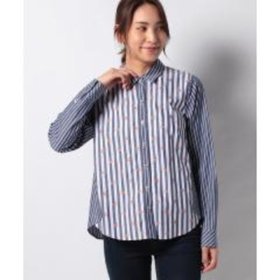キャラオクルス【MONTI 】異素材MIXのストライプシャツ