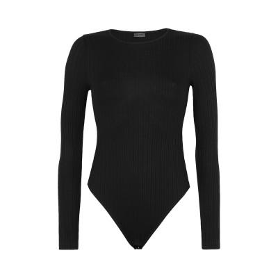 8 by YOOX T シャツ ブラック XL オーガニックコットン 95% / ポリウレタン 5% T シャツ