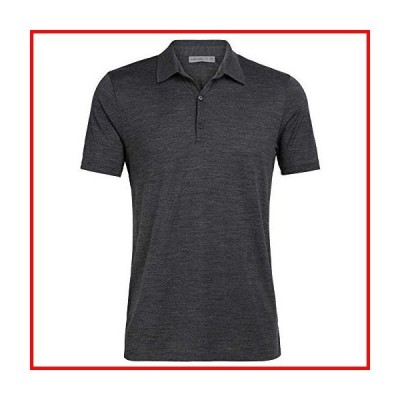 Icebreaker Tech Lite ポロシャツ - メンズ ジェットヘザー、L【並行輸入品】