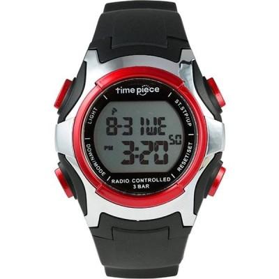 メンズ(男性) | Time Piece(タイムピース) 腕時計 電波時計 ソーラー(デュアルパワー) デジタル レッド TPW001RD