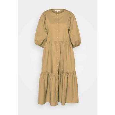 レディース ファッション HASITA - Shirt dress - incense