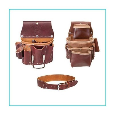 Occidental Leather 5062 4 Pocket Pro Fastener Bag w/ 5070 Drywall Pouch & Belt S【並行輸入品】