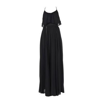 ELISABETTA FRANCHI ロングワンピース&ドレス ブラック 38 レーヨン 100% ロングワンピース&ドレス