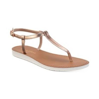 サンアンドプラスストーン レディース サンダル シューズ Kristi T-Strap Flat Sandals Rose Gold