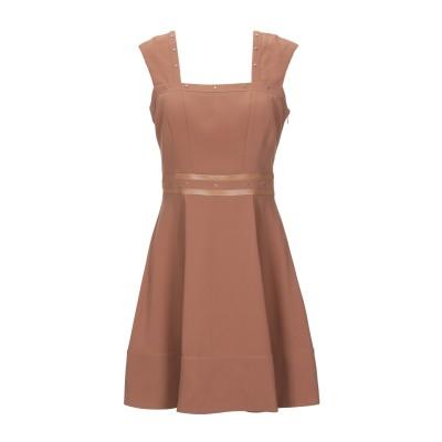 リュー ジョー LIU •JO ミニワンピース&ドレス キャメル 42 コットン 80% / ナイロン 20% ミニワンピース&ドレス