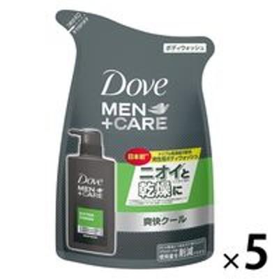 ユニリーバ【セール】Dove MEN(ダヴメン)+ケア ボディウォッシュ 爽快クール エクストラフレッシュ 替 320g 5個 ユニリーバ