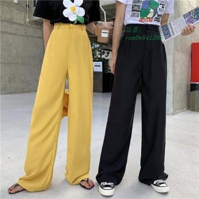 ロング 無地  ボトムス 衣装 スラックス アメカジ 原宿系 韓国 ストリート パンツ  ダンス きれいめ オルチャン