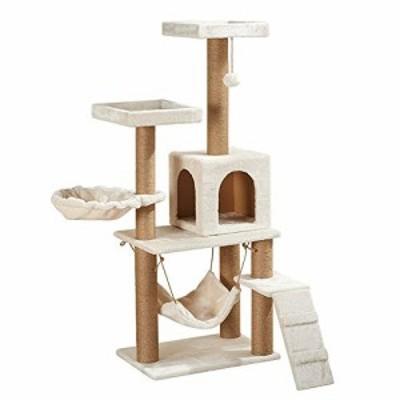 猫クライミングフレーム ペットは麻縄爪猫スクラッチ列キャットツリークリ (新古未使用品)