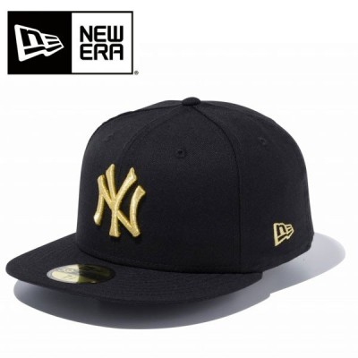 即納可★ 【NEW ERA】ニューエラ 59FIFTY MLB ニューヨーク・ヤンキース ブラック × ゴールド(11308572-16skn)