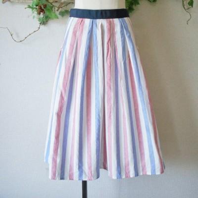プリシラバス ドール Priscilla bus D'or 春夏 向き ストライプ の 可愛い スカート 2