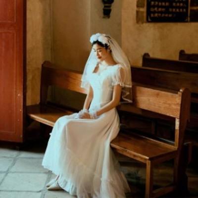 ウェディングドレス 二次会 花嫁ドレス 結婚式 ドレス パーティードレス Aライン ストレート おしゃれ 個性的 可愛い ナチュラル カジュ