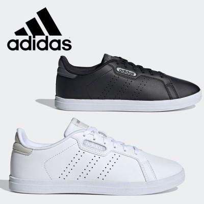 アディダス シューズ COURTPOINT CL X KYY94 レディース 靴 くつ スニーカー 黒靴 黒スニーカー ブラック 白靴 白スニーカー ホワイト
