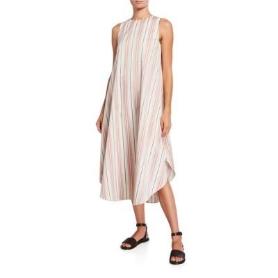 ロロピアーナ レディース ワンピース トップス Nadine Striped Cotton Flowy Shift Dress