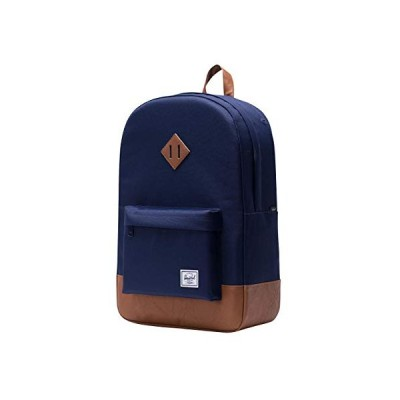 Herschel Supply Company Daypack, Faux Leather Peacock / Light Brown (Blue) - 10007-01894-OS 並行輸入品