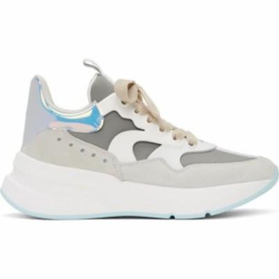 アレキサンダー マックイーン Alexander McQueen メンズ スニーカー シューズ・靴 white and blue leather sneakers White/Silver