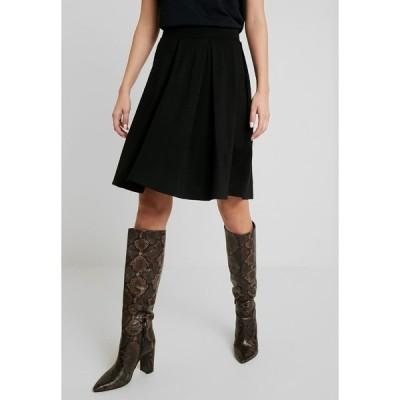アンナフィールド スカート レディース ボトムス BASIC - A-line skirt - black