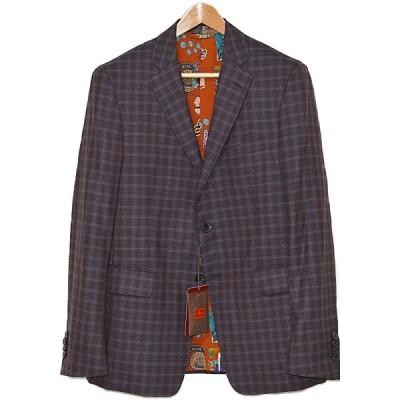 ◆エトロ◆未使用品 チェック柄 メンズ ジャケット ウール素材 美しい素材 美しいシルエット ETRO
