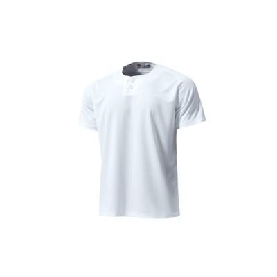 セミオープンベースボールシャツ プリントなし(p2710-muji)  無地 野球 チーム クラブ サークル 部活 団体