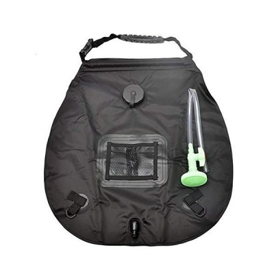 <新品>Outdoor Camping Shower Bag 20L Solar Shower Bag for Outdoor Traveling Hiking Summer Shower (Color : Black)【送料無料】