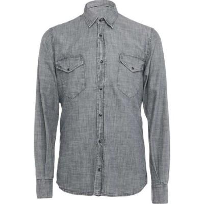 オリジナル ヴィンテージ スタイル ORIGINAL VINTAGE STYLE メンズ シャツ トップス Solid Color Shirt Slate blue