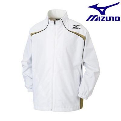 ◆◆ <ミズノ> MIZUNO ウィンドブレーカーシャツ(バスケットボール)[ジュニア] W2JE6901 (01:ホワイト×ゴールド×ブラック)