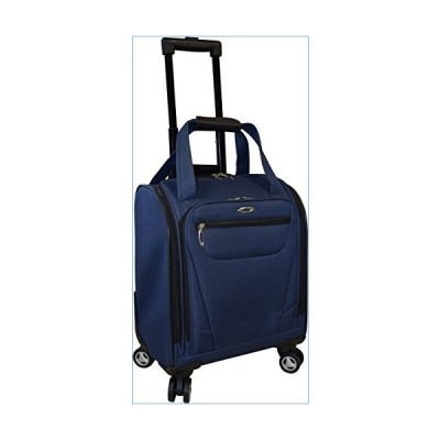 Kemyer 15 Inch Underseater Spinner With Laptop Pocket- Carry-On Wheeled Luggage (Navy)並行輸入品